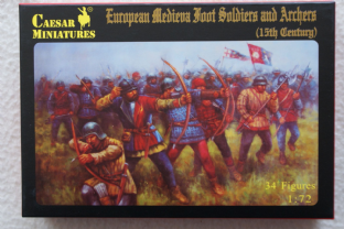 Caesar Miniatures 1/72 CMH088 European Foot Soldiers & Archers, 15thC (Medieval)